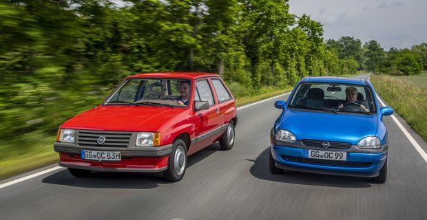 Opel bringt Corsa-Klassiker zur Oldtimerfahrt mit