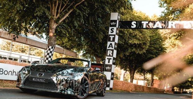 Goodwood: Lexus lässt das LC Cabriolet fahren