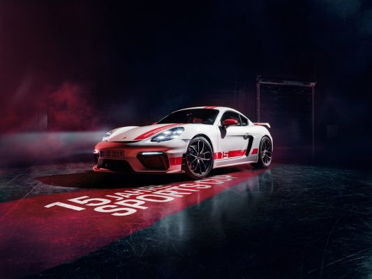 Porsche 718 Cayman GT4 Sports Cup Edition.