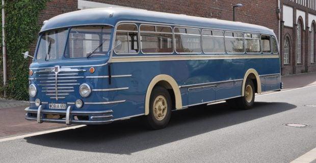 Historischer Büssing-Bus zurück in der Autostadt