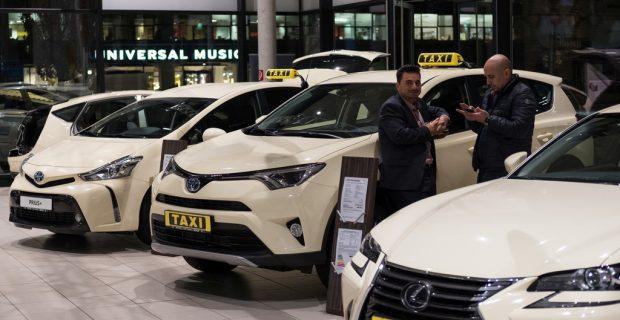 Die Sieger der Toyota Taxi-Challenge.
