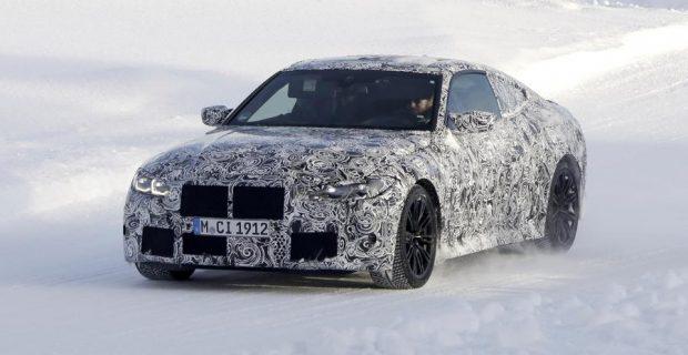 BMW M4 Coupe Erlkönig auf Wintertour