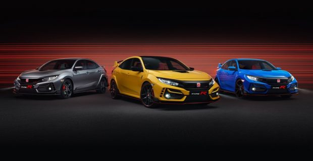 Honda Civic Type R (von links): Sport Line, Limited Edition und GT.