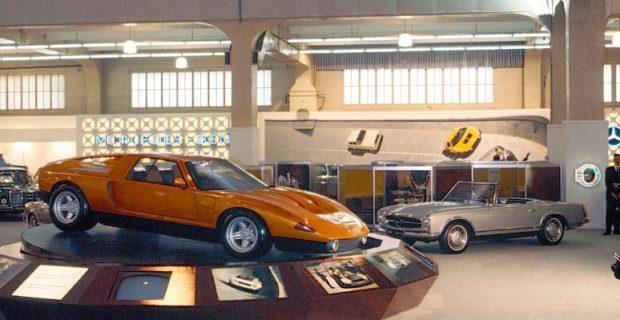 Mercedes-Benz C 111-II auf dem Genfer Automobilsalon 1970.