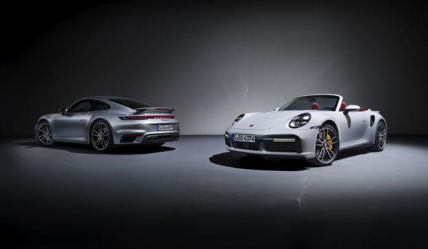 Porsche 911 Turbo S Coupé und Cabriolet.