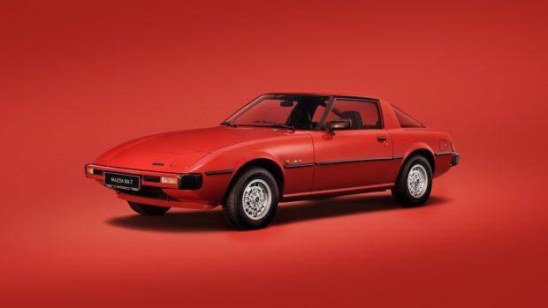 Mazda RX-7 100th. Anniversary-Fotoaktion.