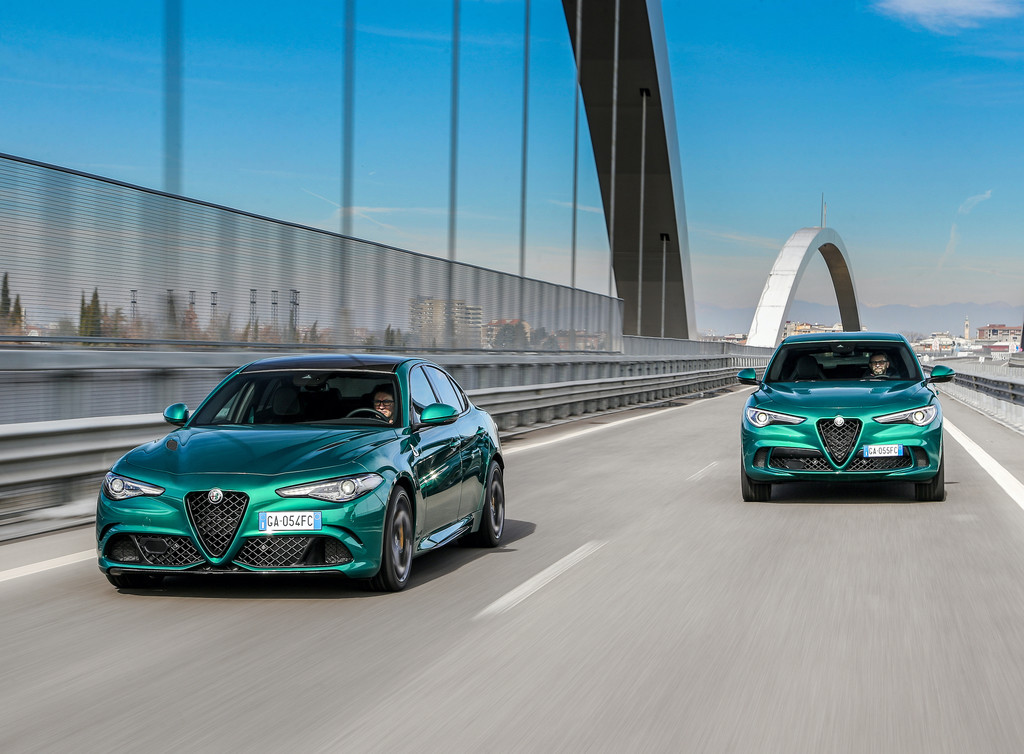 Alfa Romeo Stelvio Quadifoglio in der neuen Farbe Verde Montreal.