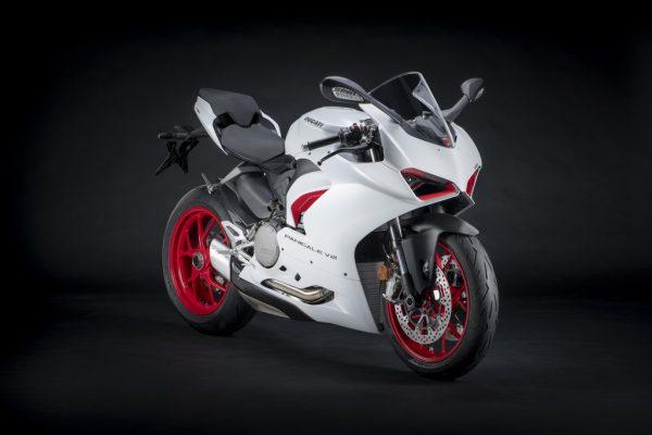 Die Ducati Panigale V2 kann auch Weiß
