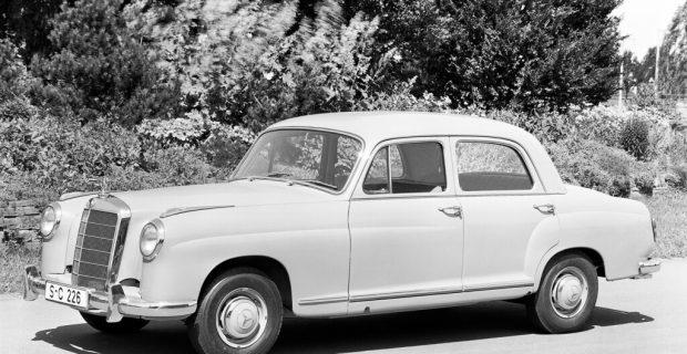 "Mercedes-Benz ""Ponton"" (1953–1959)."