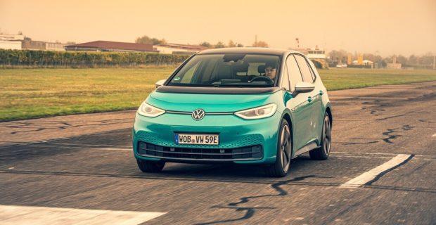 """""""Deutsches Auto des Jahres 2021"""" in der Premiumklasse: Volkswagen ID 3."""