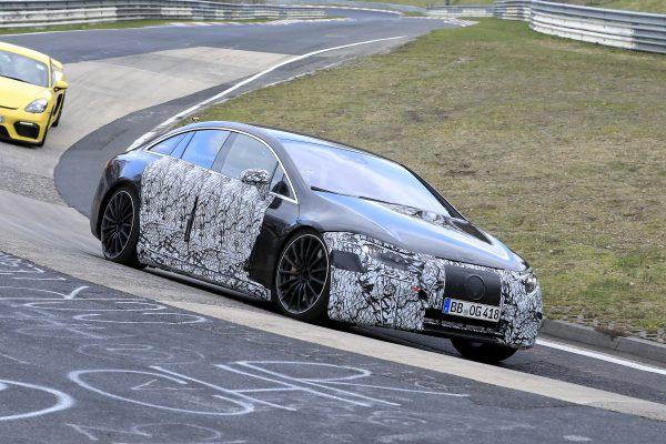 Mercedes-Benz EQS AMG abgelichtet