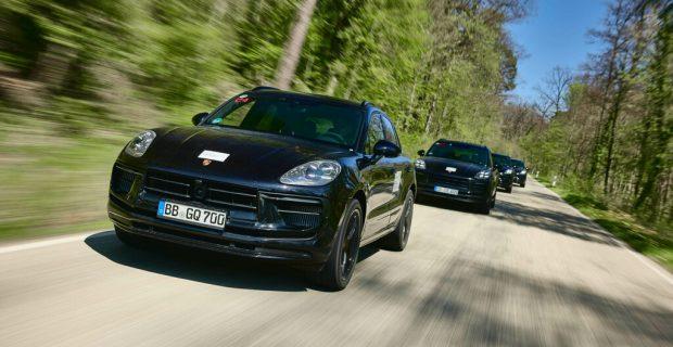 Entwicklungsfahrten mit dem neuen Porsche Macan.